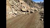 Arrowrock road rock slide